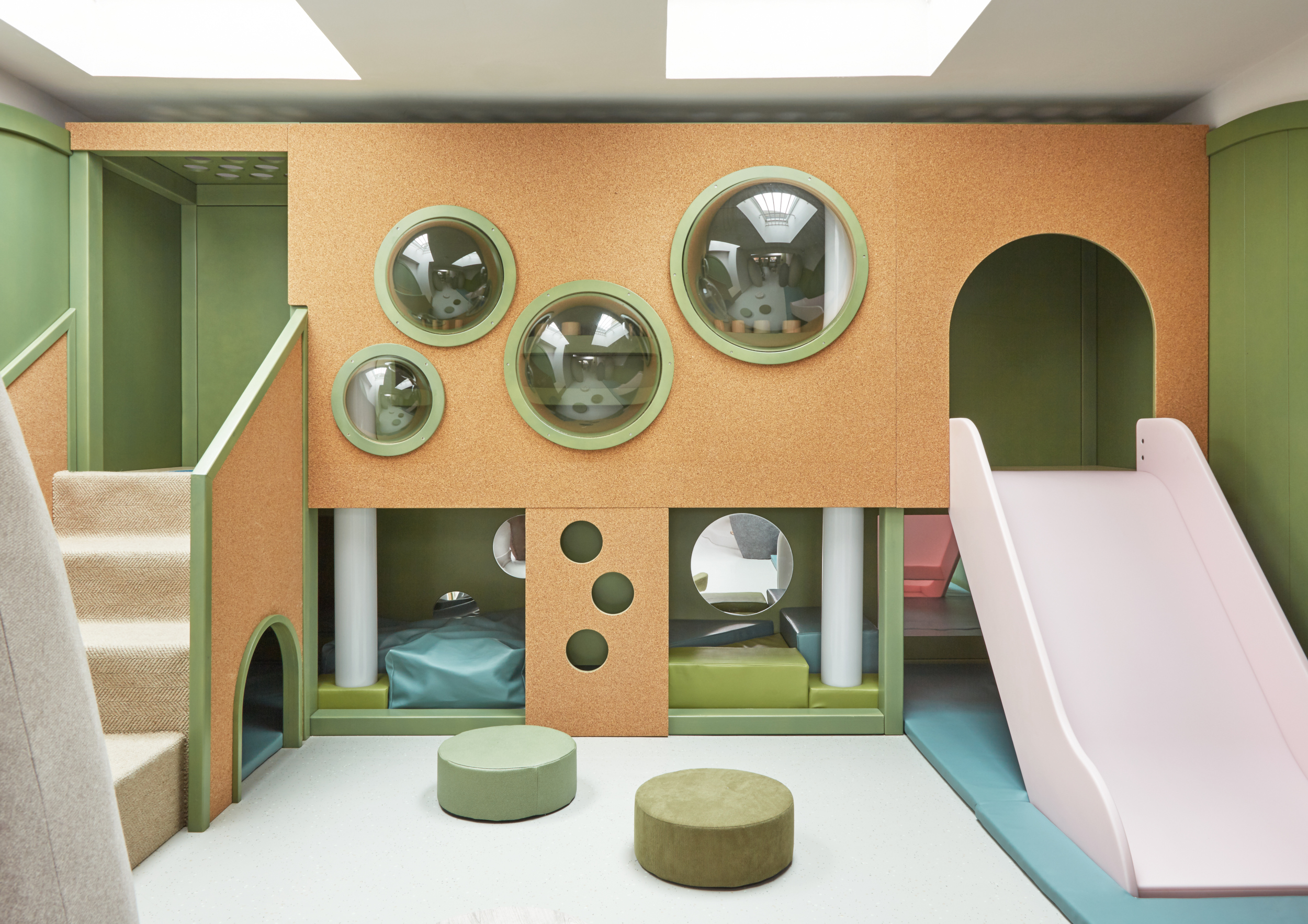 An indoor play area for children