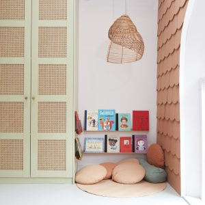 A reading area for children to take advantage of