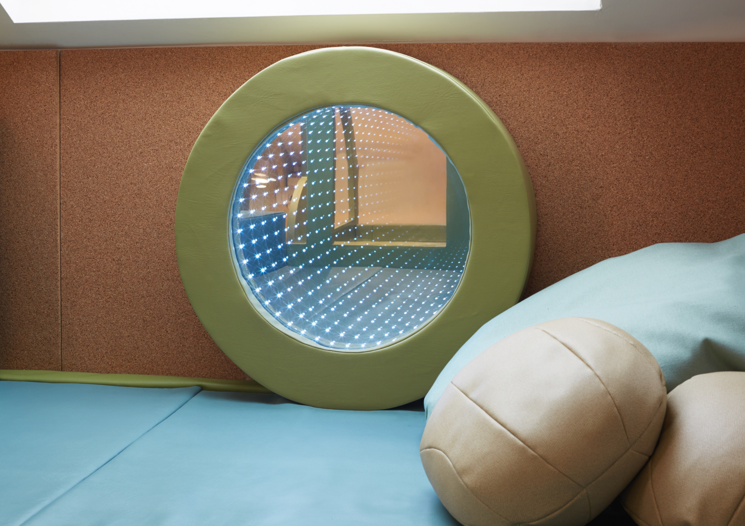Children can now crawl across to different parts of the nursery